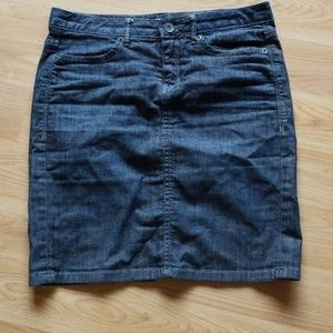 CONVERSE ONE STAR BLUE JEAN PENCIL SKIRT SIZE 4